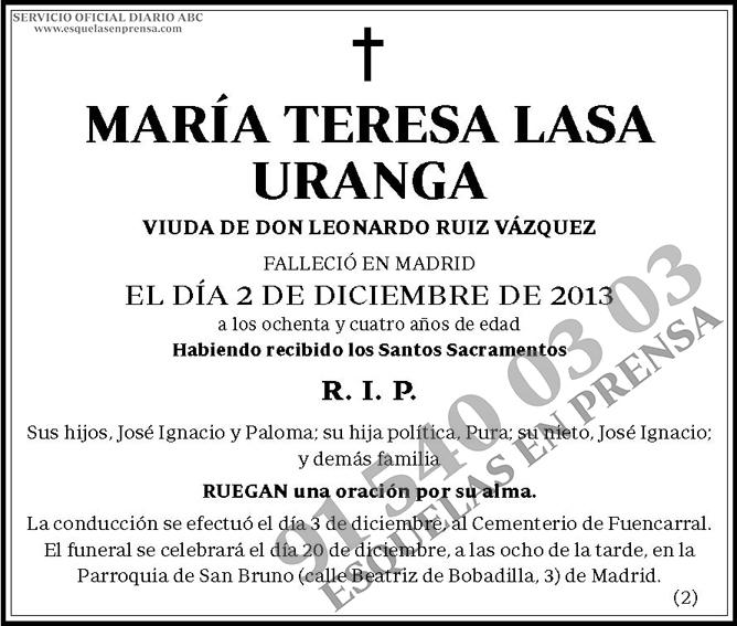 María Teresa Lasa Uranga